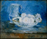 Berthe Morisot / White Flowers in a Bowl / 1885