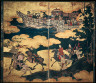 Kano Eitoku / Tartar Envoys Arriving in Ships, Their Advance Party Ashore / latter half of the 16th century
