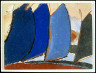 Arthur Garfield Dove / Untitled (Four blue-gray sail-like forms) / 1942-1944