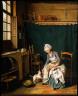 Nicolas Bernard L??pici?? / Servant Girl Plucking a Chicken / not dated