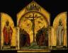 Duccio di Buoninsegna / Triptych: the Redeemer with Angels; Saint Nicholas; Saint Gregory / 1311-18