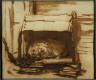 Rembrandt van Rijn / Watchdog Sleeping in His Kennel / about 1638
