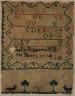 Sally Roberts / Sampler / 1774