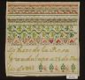 Rosa Guadalupe / Sampler / 1849