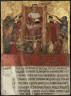 Lippo Vanni / Biccherna Cover: The Tribute Offering / Mid 14th Century