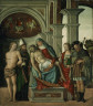Gaspare Negro / Virgin Holding the Dead Christ, with Saints Sebastian, Blaise, Margaret and James the Great / 1513