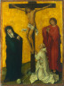 Netherlandish, 15th century / The Crucifixion with a Monk / c. 1470