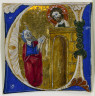 Italy, 13th Century / Historiated Initial (U) Excised from a Bible / 13th century