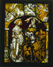 Germany, (Freiburg ?) or Switzerland, (Basel ?), 16th century / Heraldic Panel: Arms of Lichtenfels and a Unicorn Hunt / c. 1515