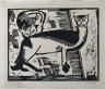 Karl Schmidt-Rottluff / Two Cats / 1915