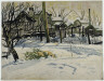 Charles Burchfield / Backyards in Winter / 1917