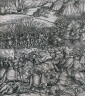 Hans Burgkmair / How the French King made war on the King of Feuerisen in his realm and how the King of Feuereisen died in the battle from Der Weisskunig / 1512-1516