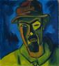 Karl Schmidt-Rottluff / Self-portrait with Hat / 1919