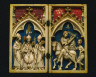 Germany, Cologne (?), 14th Century / Diptych: The Life of Saint Martin of Tours / 1340-1360