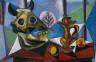 Pablo Picasso / Bull's Skull, Fruit, Pitcher / 1939