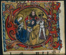 Germany, Franconia or Saxony (?) or Silesia (?), 15th Century / Three Cuttings from a Missal: Initial C with the Adoration of the Magi / c. 1470-1500