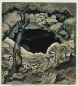 Charles Burchfield / White Violets and Coal Mine / 1918