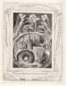 William Blake / One of 21 engravings for the Book of Job / 1825