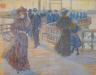 Maurice Brazil Prendergast / South Boston Pier, Sunset / 1895-97