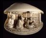 Shuosai Hidemasa / Clam-shell with the Vindication of Ono No Komachi / Early 19th Century