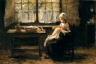 Jozef Israels / Young Girl Sewing / not dated