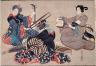 Katsushika Oi / Three Women Playing Musical Instruments / about Bunsei (1818-1830) or Tenpo (1830-1844) era