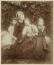 Julia Margaret Cameron / Group Portrait (Julia Duckworth with Florence, George and Herbert Fisher) / about 1872