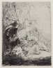 Rembrandt Harmensz. van Rijn / The Small Lion Hunt (with Two Lions) / about 1632