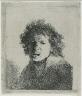 Rembrandt Harmensz. van Rijn / Self Portrait Open-Mouthed, as if Shouting: Bust / 1630