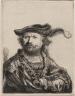 Rembrandt Harmensz. van Rijn / Self Portrait in a Velvet Cap with Plume / 1638