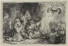 Rembrandt Harmensz. van Rijn / The Angel Departing from the Family of Tobias / 1641