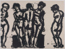 Lester Johnson / Untitled (Five Nudes) / 1967