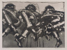 Lester Johnson / Three Seated Men / 1967
