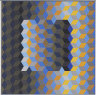 Victor Vasarely / MEH2, from the series of eight prints Homage to the Hexagon / 1969
