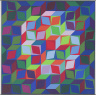 Victor Vasarely / DEUTON MC, from the series of eight prints Homage to the Hexagon / 1969