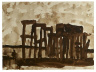Lester Johnson / Untitled (Old Pier) / about 1957
