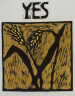 Peter Schumann / YES (stalks of wheat) / not dated