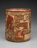 Artist not recorded / Cylinder vase / A.D. 650-800