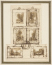 Jean-Baptiste Camille Corot / Sketch to show how six paintings should be hung / 1860s