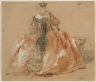 Nicolas Lancret / Lady with fur-trimmed dress / not dated