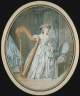 Jacques Antoine Marie Lemoine / Presumed Portrait of Mademoiselle Duth?? with Her Harp / not dated