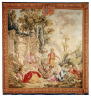 Artist not recorded / Tapestry: The Luncheon (from the series LA NOBLE PASTORALE or LES BEAUX PASTORALES) / 1756