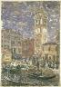 Maurice Brazil Prendergast / Santa Maria Formosa, Venice / 1912