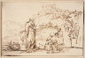 Rembrandt Harmensz. van Rijn / The Prophet Elisha and the Widow with Her Sons / about 1657