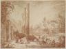 Hubert Robert / The Temple of Serapis, Pozzuoli / 1760