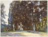 John Singer Sargent / Florence: Boboli Gardens / 1910