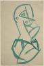 """Henri Gaudier-Brzeska / Figure (Study for or after """"Red Steone Dancer"""") / 1913-14"""