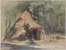 August von Pettenkofen / Gypsy hut / mid 19th century