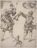Felix Lindtmayer, the Younger / Stained-Glass Design: Two Lansquenets with the Standard of Schaffhausen / about 1550
