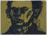 Lester Johnson / Blue/Green Head Self-Portrait / 1966-67